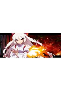 カードゲーム プレイマット No.15 藤原妹紅 東方project 遊戯王 ヴァンガード 幻想ノ宴 VISION