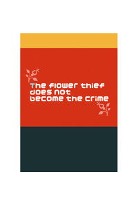 The flower thief does not become the crime