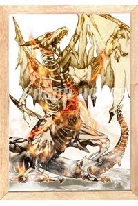 ドラゴンゾンビ 枠入りポスター