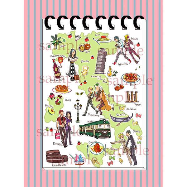 暗チリング綴じメモ帳 [がおー(はち)] ジョジョの奇妙な冒険