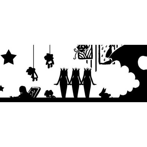 美術館OPPテープ(白×黒) [裏aiueo(manzi)] Ib