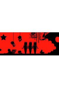 美術館OPPテープ(赤×黒)