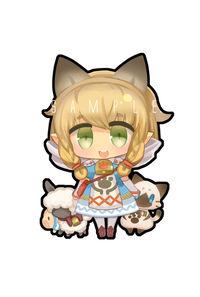 ミニクッション【ネコ嬢】