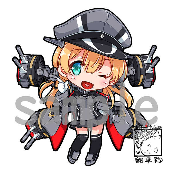 艦これ プリンツオイゲン アクリルキーホルダー [モニャモニャ(ShiBi)] 艦隊これくしょん-艦これ-