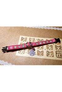 H.A.O工房オリジナル猫用首輪(ピンク)