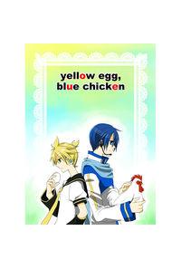 yellow egg,blue chicken