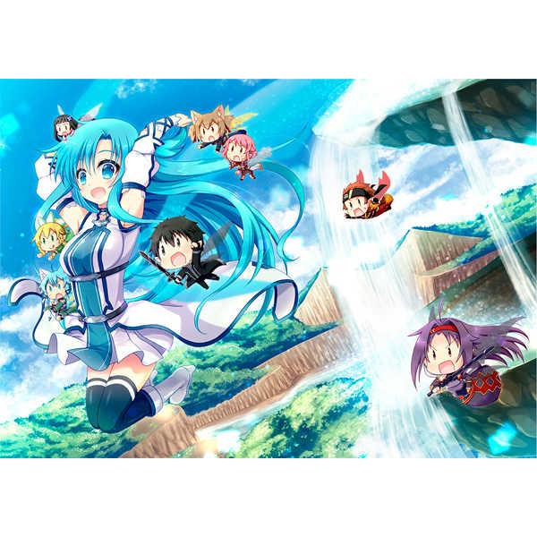 アスナとその仲間たちタペストリー [Angel☆Tear(とーご)] ソードアート・オンライン