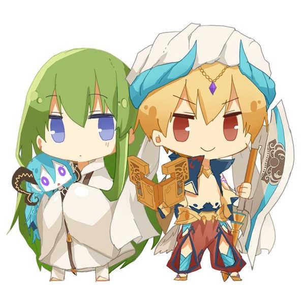 ギルガメッシュ(キャスター)&キングゥアクリルフィギュア [Felicia(塩葛餅)] Fate/Grand Order