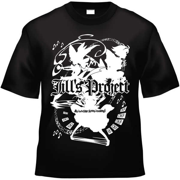 Jill's Project x Project Shrine Maiden (黒白TシャツLサイズ)
