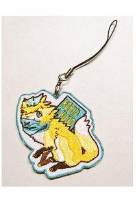 ロビン狐の刺繍キーホルダー