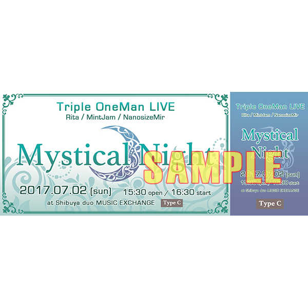 7/2 ライブ 【Mystical Night】 チケット タイプC [MintJam(a2c)] オリジナル
