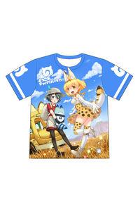 けものフレンズ さばんなトリオ フルプリントTシャツ L