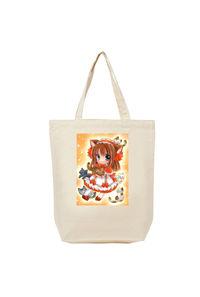 【トートバッグ(M)】オリジナル/オレンジ猫娘/トートバッグ M