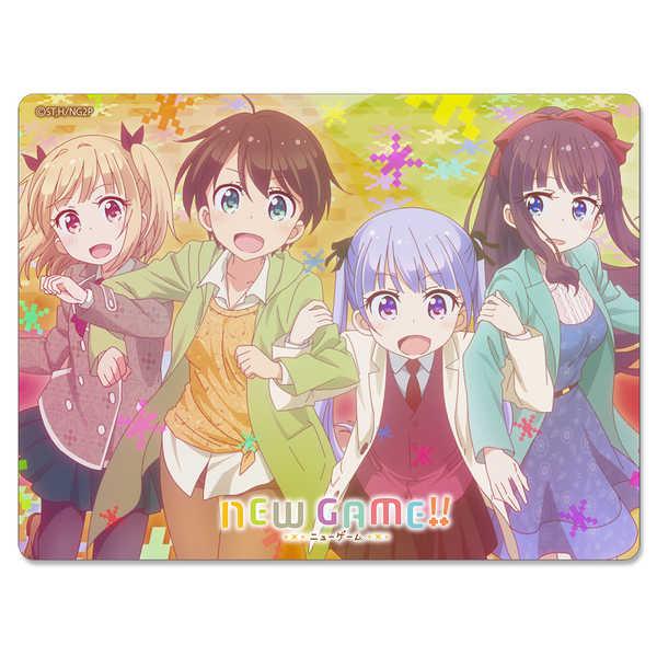 NEW GAME!! マウスパッド(吸着シート)(4人秋服) [サインショップO2((C)得能正太郎・芳文社/NEW GAME!!製作委員会)] NEW GAME!