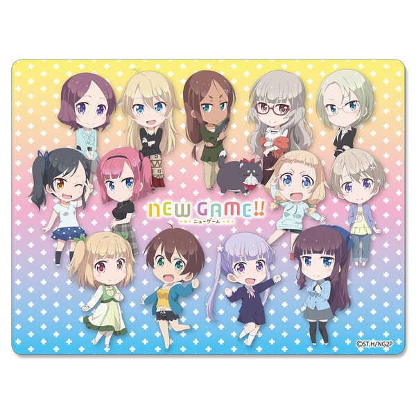 NEW GAME!! マウスパッド(吸着シート)(SDキャラ集合) [サインショップO2((C)得能正太郎・芳文社/NEW GAME!!製作委員会)] NEW GAME!
