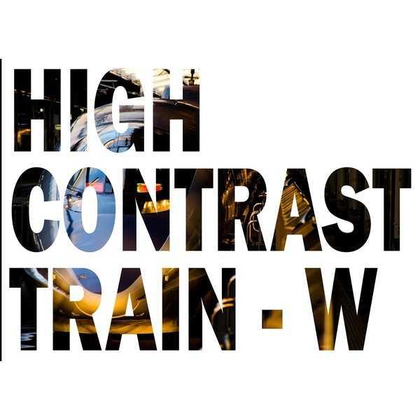 HIGH CONTRAST TRAIN-W [寺見屋ラボ(てらひで)] 鉄道