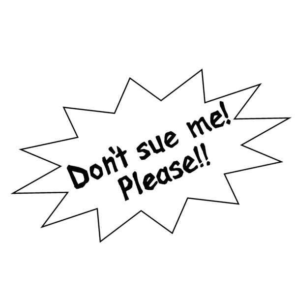 英語版・お願いです!訴えないでください!Tシャツ [出版評論社(田中圭一)] SF・近未来系ファンタジー