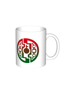 【マグカップ(大)】デザイン紋章「鍵林檎に鎖」