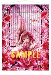 「絵師100人展 08」B1タペストリー てぃんくる「Immortal Pomegranate」