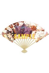 「絵師100人展 08」京風舞扇 cura「宵月の籠」