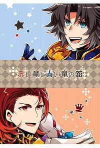 赤い竜と青い竜の鎧