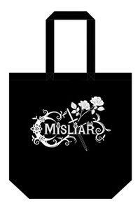 MISLIAR 2カラーコットントートバッグ【ブラック】