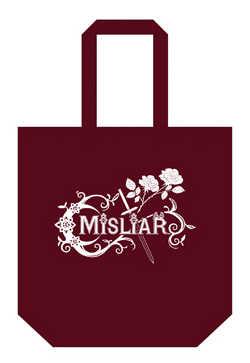 MISLIAR 2カラーコットントートバッグ【ワインレッド】