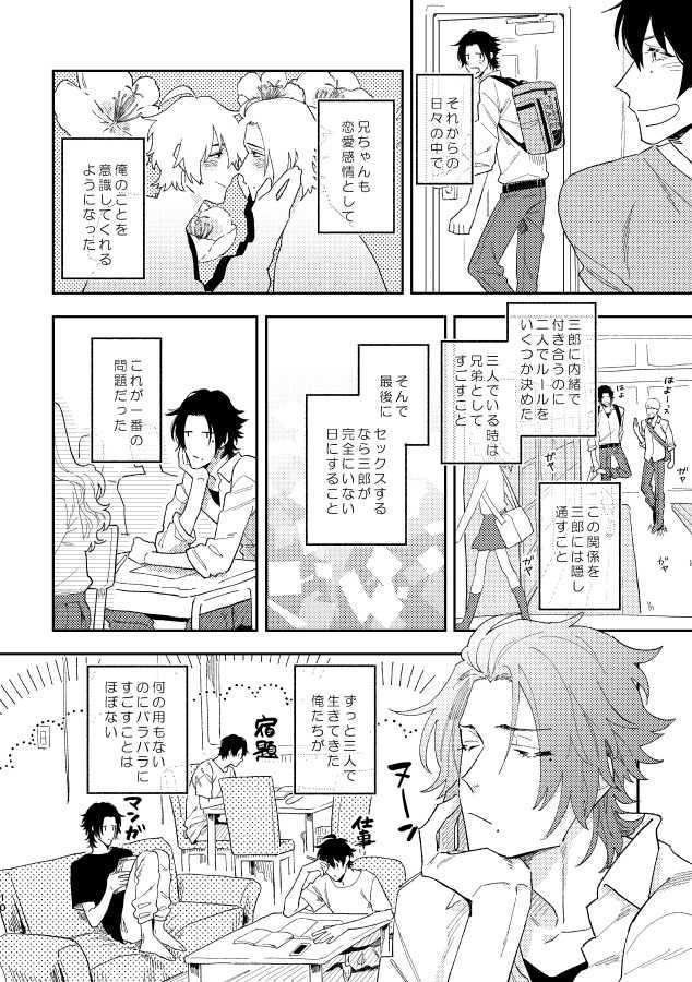 一郎と二郎がお互い処女喪失する話