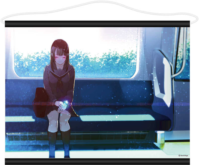 CisLugI-シスラギ-B2変形Wスエードタペストリー電車シーン [Next Village(かやはら)] オリジナル