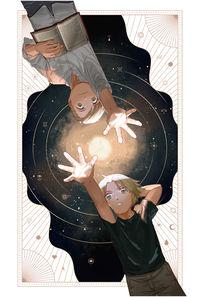 THE WHIRLING WAYS OF STARS THAT PASS タロットカードイラスト集