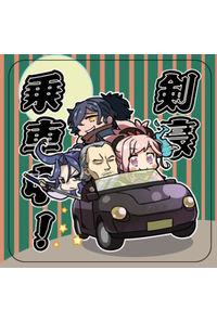 FGO『剣豪乗車中!』耐水ステッカー【屋外使用可能】