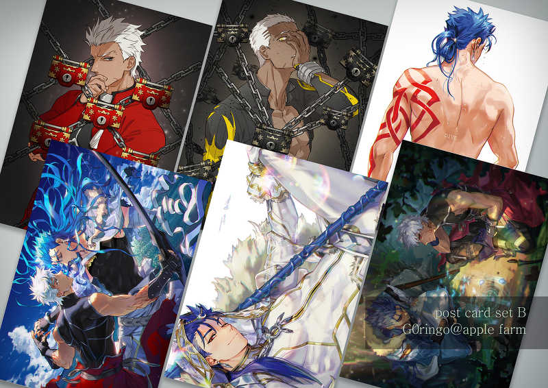 FATE 槍と弓 ポスターカード B set [Apple farm(G0ringo)] Fate/Grand Order
