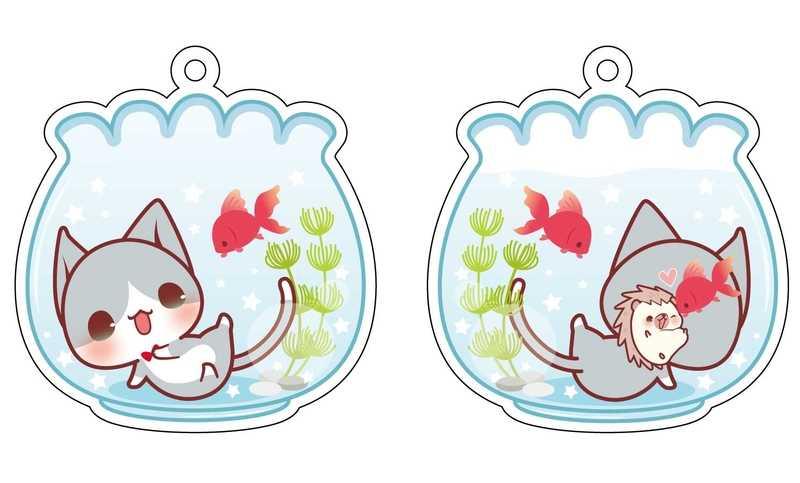 金魚とにゃんこアクキー