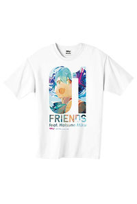 初音ミク/01 FRIENDS feat.Hatsune Miku Tシャツ-M