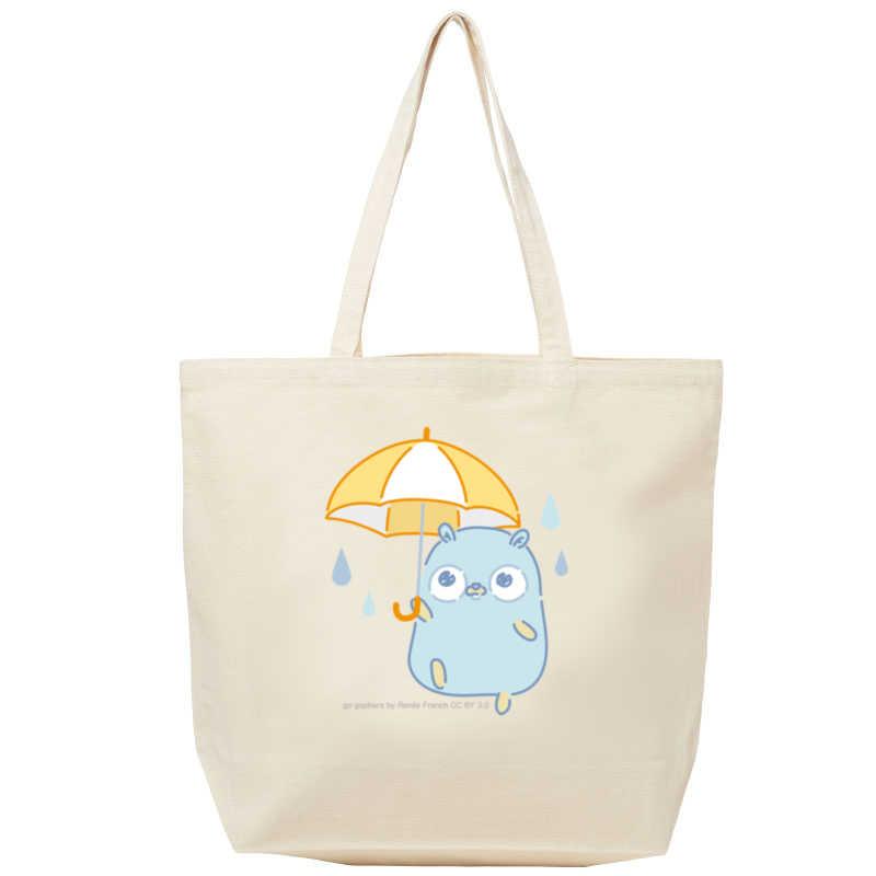 【トートバッグ(L)】雨とGopherくん [とらのあなクラフト公式(とらのあなクラフト公式)] その他