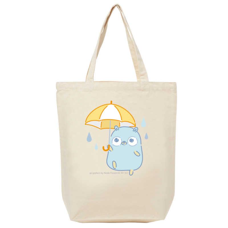 【トートバッグ(M)】雨とGopherくん [とらのあなクラフト公式(とらのあなクラフト公式)] その他