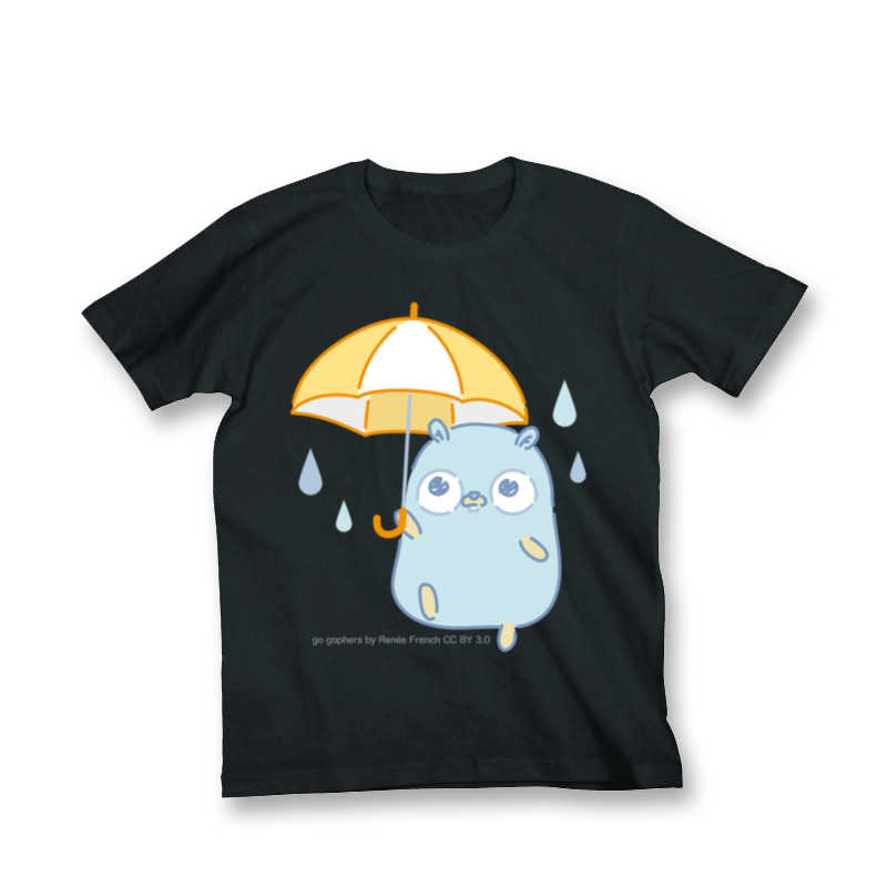 【Tシャツ】雨とGopherくん [とらのあなクラフト公式(とらのあなクラフト公式)] その他