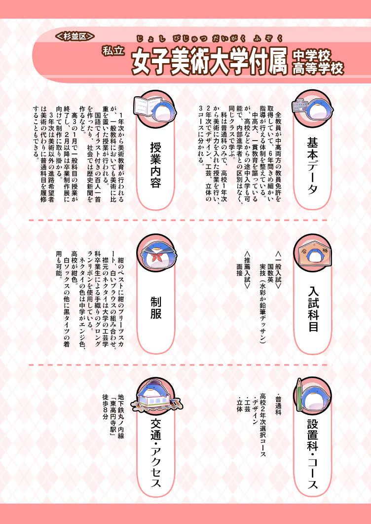 東京都内美術系中学&高校制服図鑑 2020年度入試対応版 夏服編