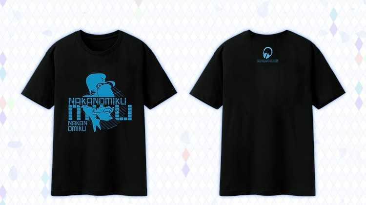 五等分の花嫁-中野 三玖-100%綿素材Tシャツ 黒色 Lサイズ【C19054B-L】