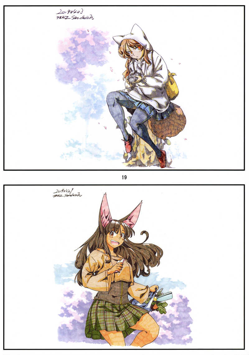 meizイラスト資料集 アナログイラスト編
