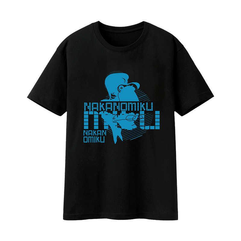 五等分の花嫁-中野 三玖 -牛乳合成繊維 黒色Tシャツ-Mサイズ【T19054B-M】