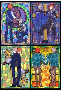 ステンドグラスポストカード4種セット