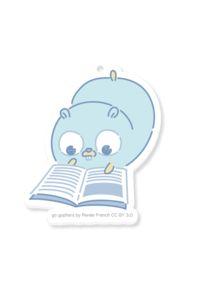 【アクリルキーホルダー】本を読むGopherくん