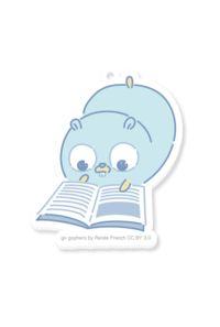 【アクリルキーホルダー】勉強するGopherくん