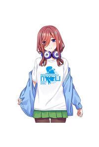 五等分の花嫁-中野 三玖 -牛乳合成繊維 白色Tシャツ-Lサイズ【T19054W-L】