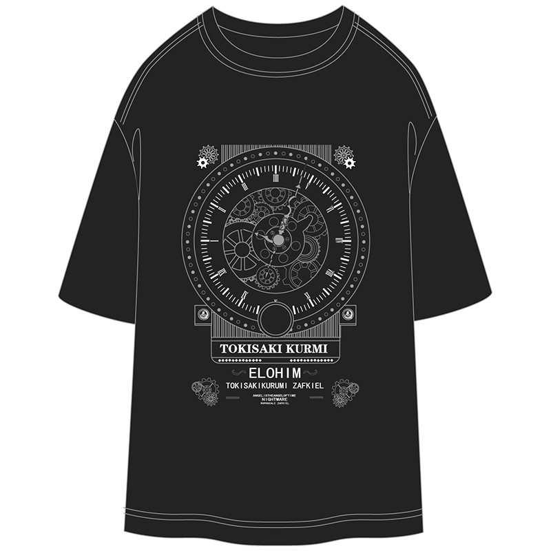 デート・ア・ライブ-時崎狂三-牛乳合成繊維 黒Tシャツ XLサイズ【T19048B-XL】