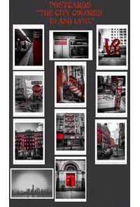 ポストカードセット The City Colored in Ash Lynx