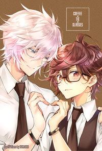 ルシサンポストカード(珈琲+眼鏡+ネクタイの日)