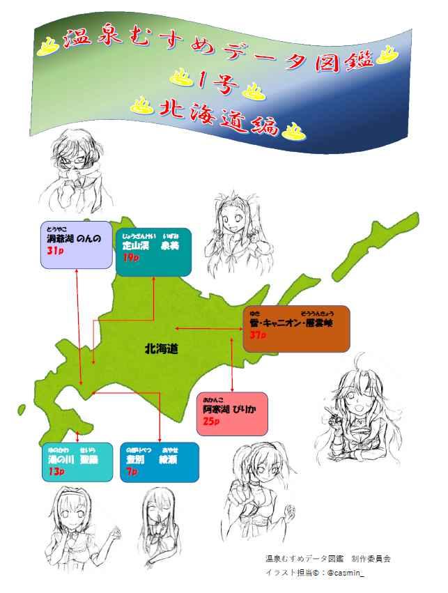 温泉むすめデータ図鑑 1号 北海道編 [OMAT(ひだまる)] アイドル