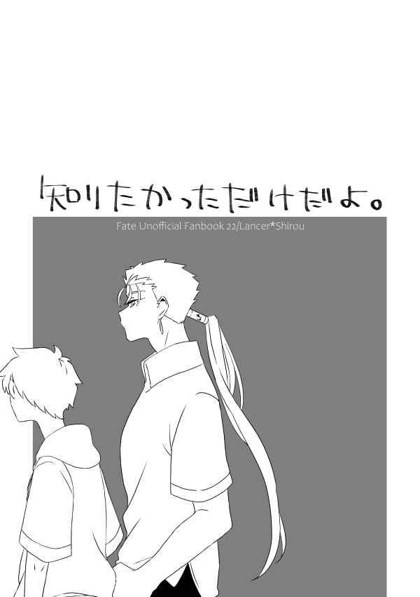 知りたかっただけだよ [kame(かめこ)] Fate